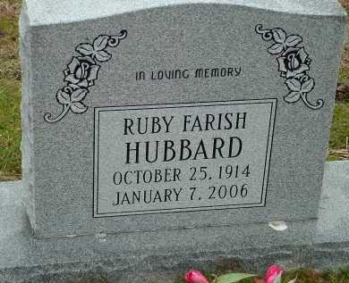 FARISH HUBBARD, RUBY - Conway County, Arkansas | RUBY FARISH HUBBARD - Arkansas Gravestone Photos