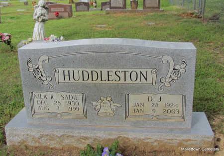 HUDDLESTON, D. J. - Conway County, Arkansas | D. J. HUDDLESTON - Arkansas Gravestone Photos