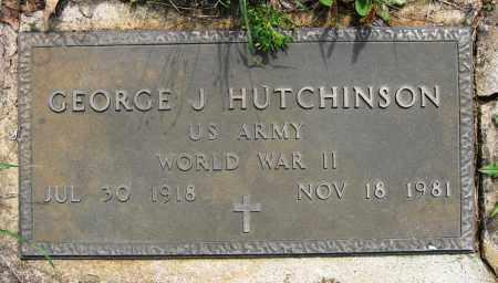 HUTCHINSON (VETERAN WWII), GEORGE J - Conway County, Arkansas | GEORGE J HUTCHINSON (VETERAN WWII) - Arkansas Gravestone Photos