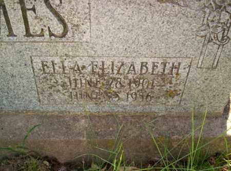 JAMES, ELLA ELIZABETH - Conway County, Arkansas | ELLA ELIZABETH JAMES - Arkansas Gravestone Photos