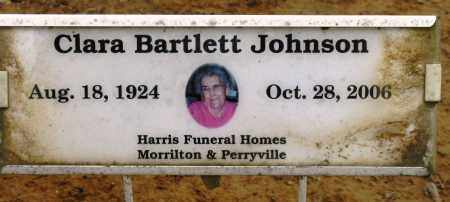 JOHNSON, CLARA BARTLETT - Conway County, Arkansas | CLARA BARTLETT JOHNSON - Arkansas Gravestone Photos