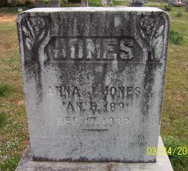 JONES, ANNA JENNIE - Conway County, Arkansas | ANNA JENNIE JONES - Arkansas Gravestone Photos