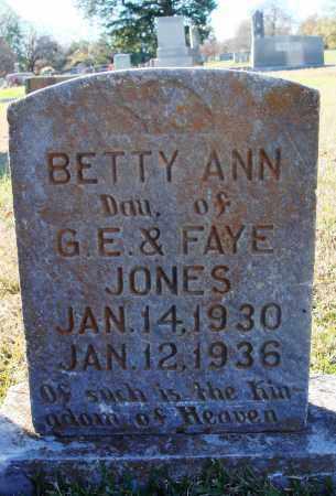 JONES, BETTY ANN - Conway County, Arkansas | BETTY ANN JONES - Arkansas Gravestone Photos