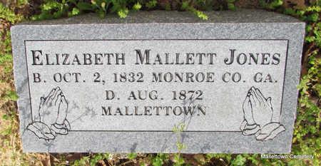 MALLETT JONES, ELIZABETH - Conway County, Arkansas | ELIZABETH MALLETT JONES - Arkansas Gravestone Photos