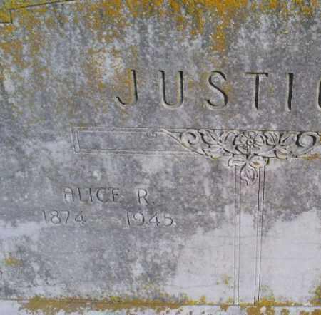 JUSTICE, ALICE R. - Conway County, Arkansas | ALICE R. JUSTICE - Arkansas Gravestone Photos