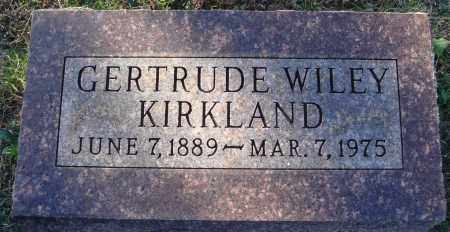 WILEY KIRKLAND, GERTRUDE - Conway County, Arkansas   GERTRUDE WILEY KIRKLAND - Arkansas Gravestone Photos