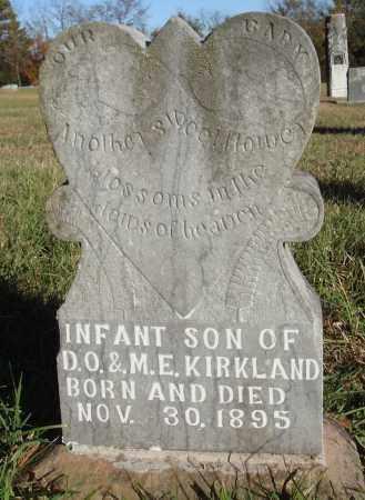 KIRKLAND, INFANT SON - Conway County, Arkansas | INFANT SON KIRKLAND - Arkansas Gravestone Photos
