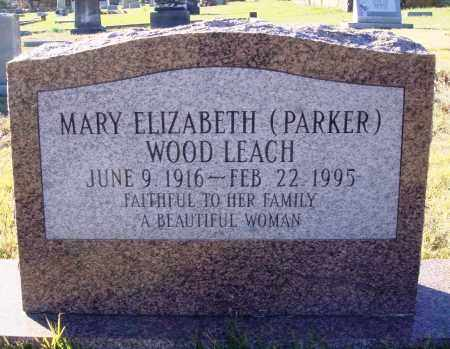 LEACH, MARY ELIZABETH - Conway County, Arkansas | MARY ELIZABETH LEACH - Arkansas Gravestone Photos