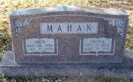 BROWN MAHAN, FRONA (SAPHRONIA E.) - Conway County, Arkansas | FRONA (SAPHRONIA E.) BROWN MAHAN - Arkansas Gravestone Photos