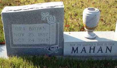 BROWN MAHAN, ORA - Conway County, Arkansas   ORA BROWN MAHAN - Arkansas Gravestone Photos
