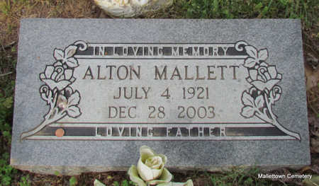 MALLETT, ALTON - Conway County, Arkansas | ALTON MALLETT - Arkansas Gravestone Photos
