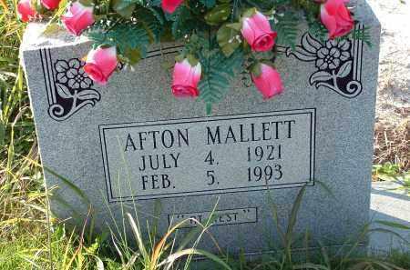 MALLETT, AFTON - Conway County, Arkansas   AFTON MALLETT - Arkansas Gravestone Photos