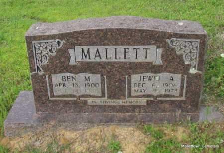 MALLETT, JEWEL A. - Conway County, Arkansas | JEWEL A. MALLETT - Arkansas Gravestone Photos