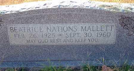 MALLETT, BEATRICE - Conway County, Arkansas | BEATRICE MALLETT - Arkansas Gravestone Photos
