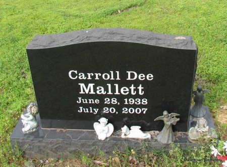 MALLETT, CARROLL DEE - Conway County, Arkansas   CARROLL DEE MALLETT - Arkansas Gravestone Photos