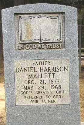 MALLETT, DANIEL HARRISON - Conway County, Arkansas   DANIEL HARRISON MALLETT - Arkansas Gravestone Photos