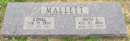 MOUNT MALLETT, ETHEL - Conway County, Arkansas   ETHEL MOUNT MALLETT - Arkansas Gravestone Photos