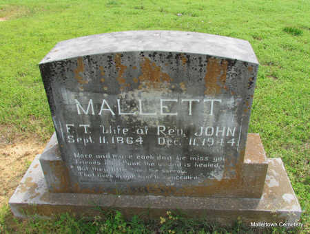 CATE MALLETT, FRANCES THEODOCIA - Conway County, Arkansas | FRANCES THEODOCIA CATE MALLETT - Arkansas Gravestone Photos