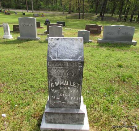 *MALLETT, GEORGE WASHINTON (LAND DONOR) - Conway County, Arkansas | GEORGE WASHINTON (LAND DONOR) *MALLETT - Arkansas Gravestone Photos
