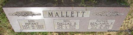MALLETT, BENJAMIN FRANKLIN (FATHER) - Conway County, Arkansas | BENJAMIN FRANKLIN (FATHER) MALLETT - Arkansas Gravestone Photos