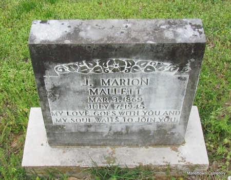 MALLETT, J. MARION - Conway County, Arkansas | J. MARION MALLETT - Arkansas Gravestone Photos