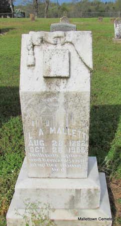 DUNCAN MALLETT, LULA ABBIE - Conway County, Arkansas | LULA ABBIE DUNCAN MALLETT - Arkansas Gravestone Photos