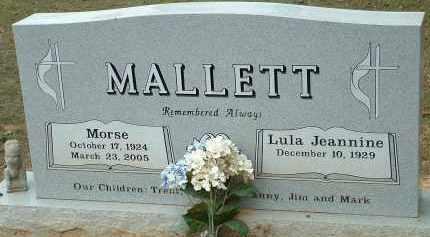 MALLETT, MORSE - Conway County, Arkansas | MORSE MALLETT - Arkansas Gravestone Photos