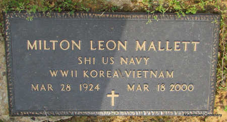 MALLETT  (VETERAN 3 WARS), MILTON LEON - Conway County, Arkansas | MILTON LEON MALLETT  (VETERAN 3 WARS) - Arkansas Gravestone Photos