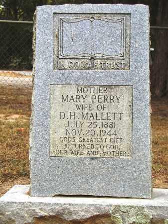 PERRY MALLETT, MARY - Conway County, Arkansas | MARY PERRY MALLETT - Arkansas Gravestone Photos