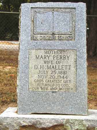 PERRY MALLETT, MARY - Conway County, Arkansas | MARY PERRY MALLETT - Arkansas Gravestone Photos