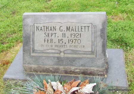 MALLETT, NATHAN GREEN - Conway County, Arkansas | NATHAN GREEN MALLETT - Arkansas Gravestone Photos