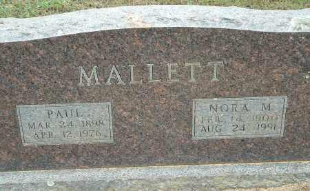 MALLETT, PAUL - Conway County, Arkansas | PAUL MALLETT - Arkansas Gravestone Photos