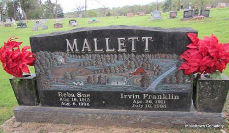 MALLETT, IRVIN FRANKLIN - Conway County, Arkansas | IRVIN FRANKLIN MALLETT - Arkansas Gravestone Photos