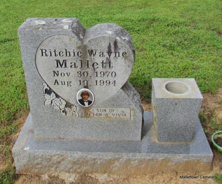 MALLETT, RITCHIE WAYNE - Conway County, Arkansas   RITCHIE WAYNE MALLETT - Arkansas Gravestone Photos