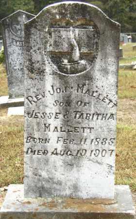 MALLETT, REV. JOHN - Conway County, Arkansas | REV. JOHN MALLETT - Arkansas Gravestone Photos