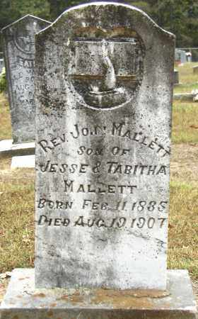 MALLETT, REV. JOHN - Conway County, Arkansas | REV. JOHN MALLETT - Arkansas Gravestone Photos