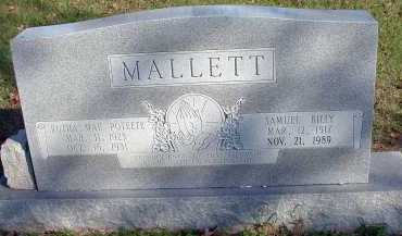 MALLETT, SAMUEL BILLY - Conway County, Arkansas | SAMUEL BILLY MALLETT - Arkansas Gravestone Photos