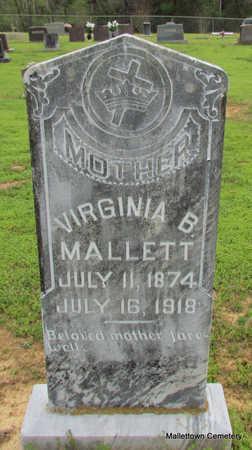 MALLETT, VIRGINIA BELL - Conway County, Arkansas | VIRGINIA BELL MALLETT - Arkansas Gravestone Photos
