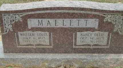 MALLETT, WILLIAM LOUIS - Conway County, Arkansas | WILLIAM LOUIS MALLETT - Arkansas Gravestone Photos
