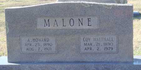 WALTHALL MALONE, COY - Conway County, Arkansas | COY WALTHALL MALONE - Arkansas Gravestone Photos
