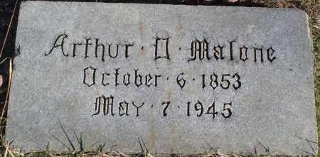 MALONE, ARTHUR D. - Conway County, Arkansas | ARTHUR D. MALONE - Arkansas Gravestone Photos