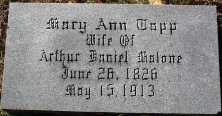 TAPP MALONE, MARY ANN - Conway County, Arkansas | MARY ANN TAPP MALONE - Arkansas Gravestone Photos