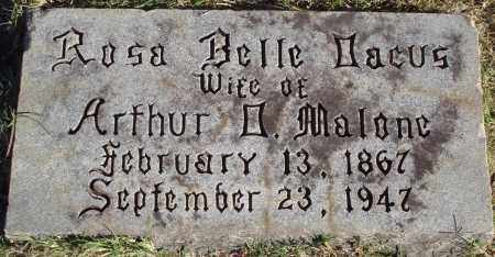 DACUS MALONE, ROSA BELLE - Conway County, Arkansas | ROSA BELLE DACUS MALONE - Arkansas Gravestone Photos