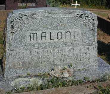 MALONE, ALMA LENORA - Conway County, Arkansas   ALMA LENORA MALONE - Arkansas Gravestone Photos