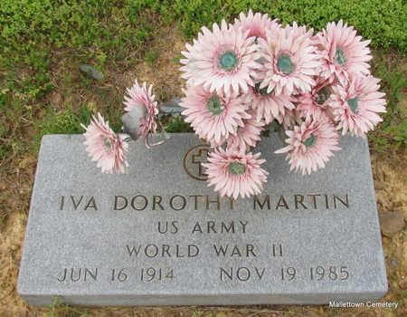 MARTIN  (VETERAN WWII), IVA DOROTHY - Conway County, Arkansas | IVA DOROTHY MARTIN  (VETERAN WWII) - Arkansas Gravestone Photos