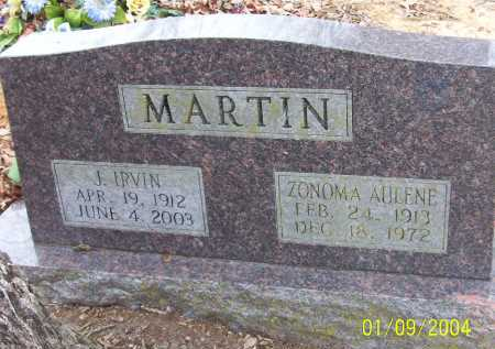 MARTIN, ZONOMA AULENE - Conway County, Arkansas   ZONOMA AULENE MARTIN - Arkansas Gravestone Photos