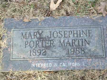PORTER MARTIN, MARY JOSEPHINE - Conway County, Arkansas | MARY JOSEPHINE PORTER MARTIN - Arkansas Gravestone Photos