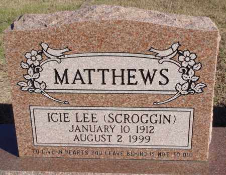 MATTHEWS, ICIE LEE - Conway County, Arkansas | ICIE LEE MATTHEWS - Arkansas Gravestone Photos
