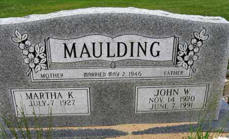 MAULDING, JOHN W - Conway County, Arkansas   JOHN W MAULDING - Arkansas Gravestone Photos