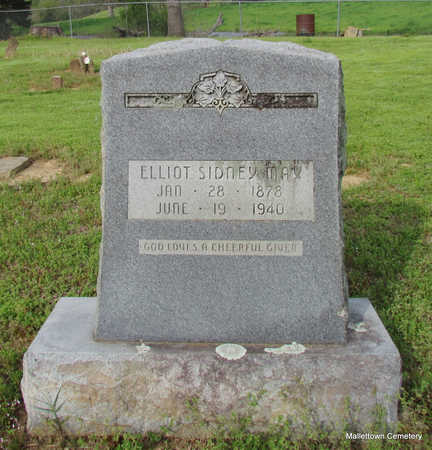 MAY, ELLIOT SIDNEY - Conway County, Arkansas | ELLIOT SIDNEY MAY - Arkansas Gravestone Photos